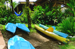 Free Kayak use at Cabinas Jimenez