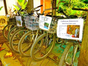 We offer free bike usage while you're staying at Cabinas Jimenez